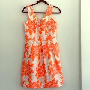 J. Crew floral jacquard dress